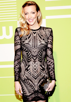 Katie Cassidy attends the CW Network's 2015 Upfront