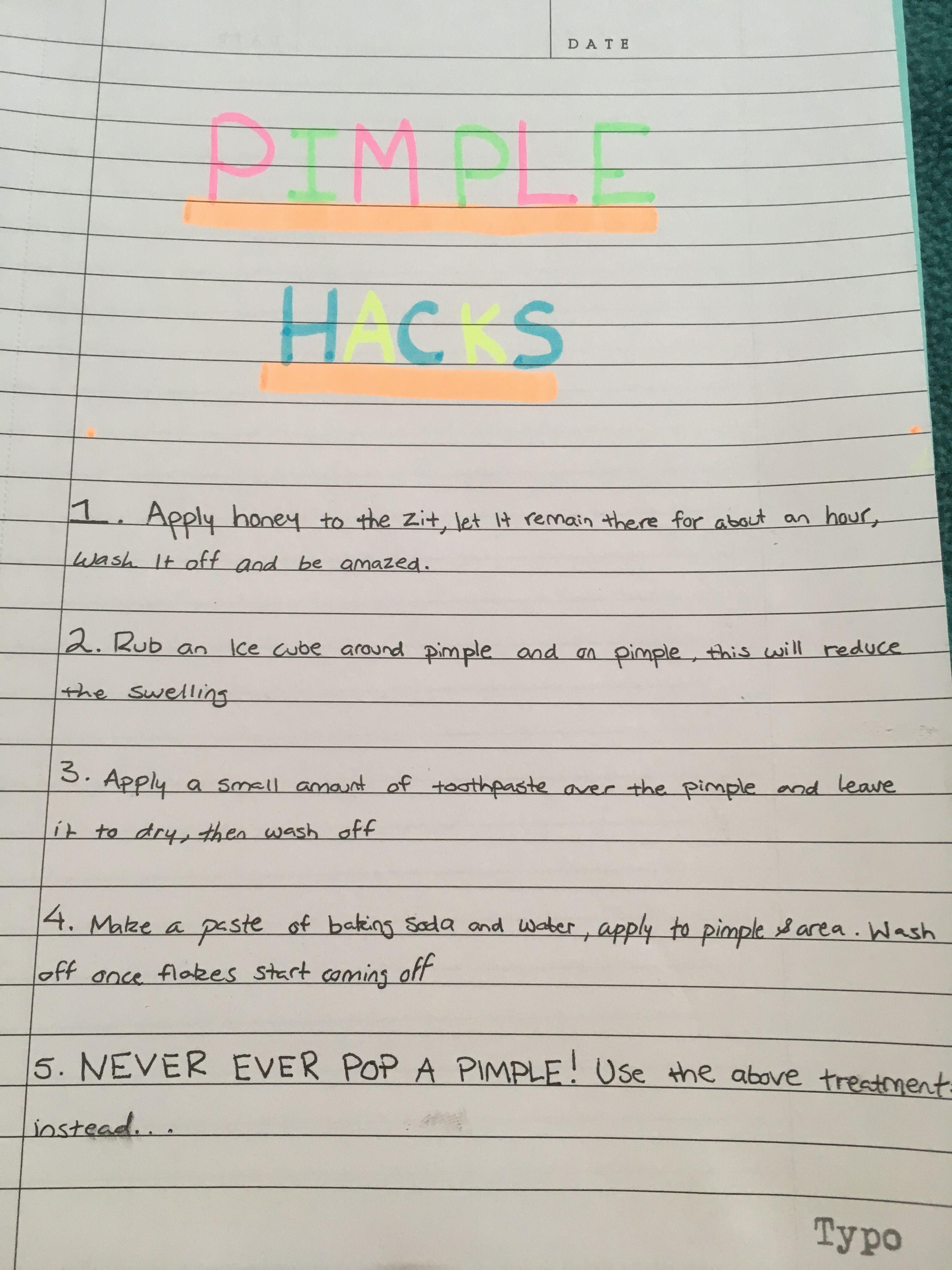 Pimple Hacks!!!! #SkinCarePimplesOvernight in 12  Pimple hacks