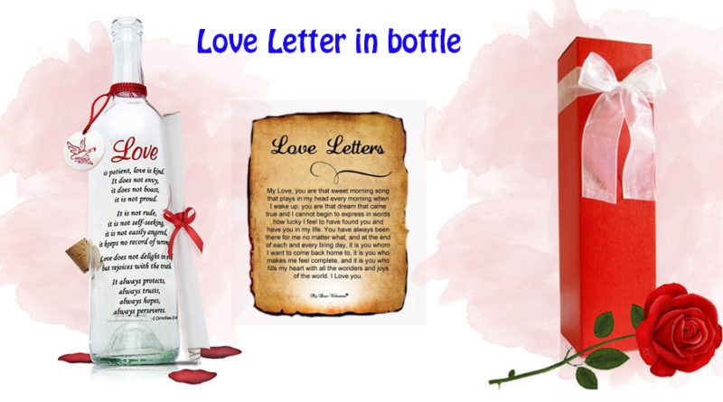 Love Letter In Bottle  Gifts For Girlfriend