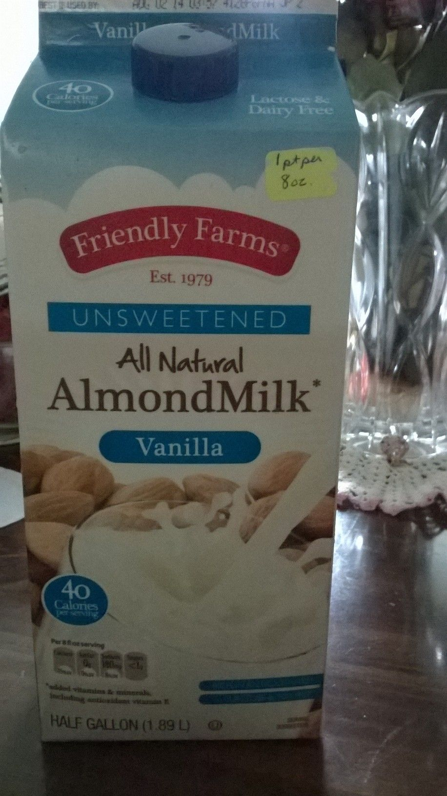 Almond Milk (Aldi's)-1 point per cup--Half the points of