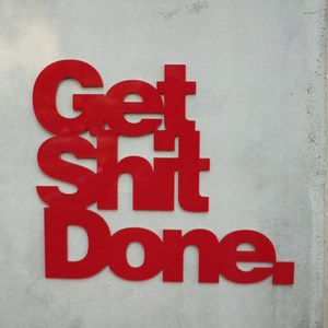 Get Sh*t Done Wall Art Red now featured on Fab.