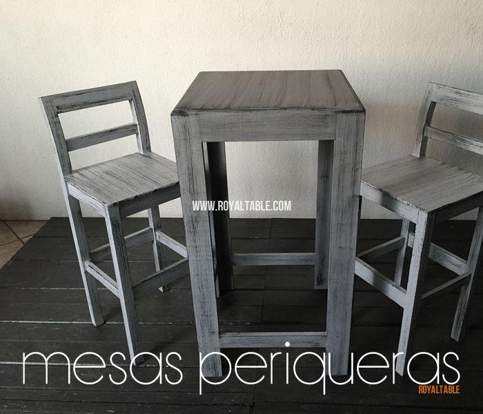 sillas periqueras de madera bar