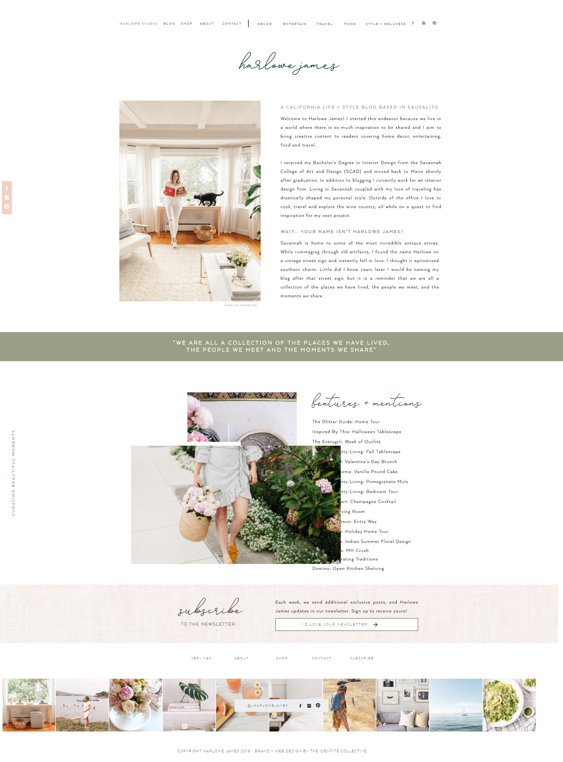 The Identite Collective Branding Web Design And Content Creation For Interior Designers And Lifestyle Bra Web Design Web Design Tips Design Your Own Website