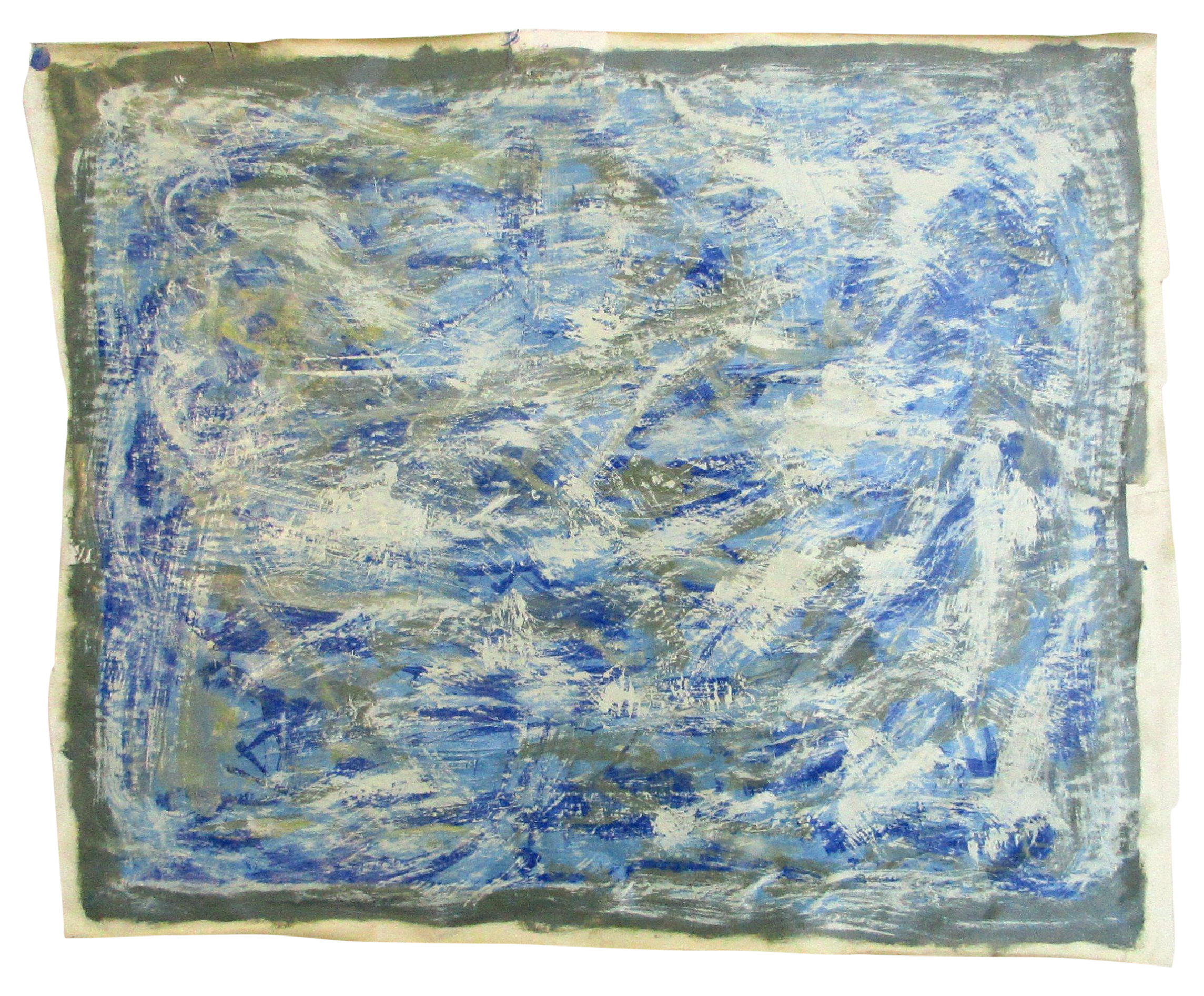 Contemporary Modern Blue Streak Painting By Alaina Painting Paint Shops Oil Painting Abstract
