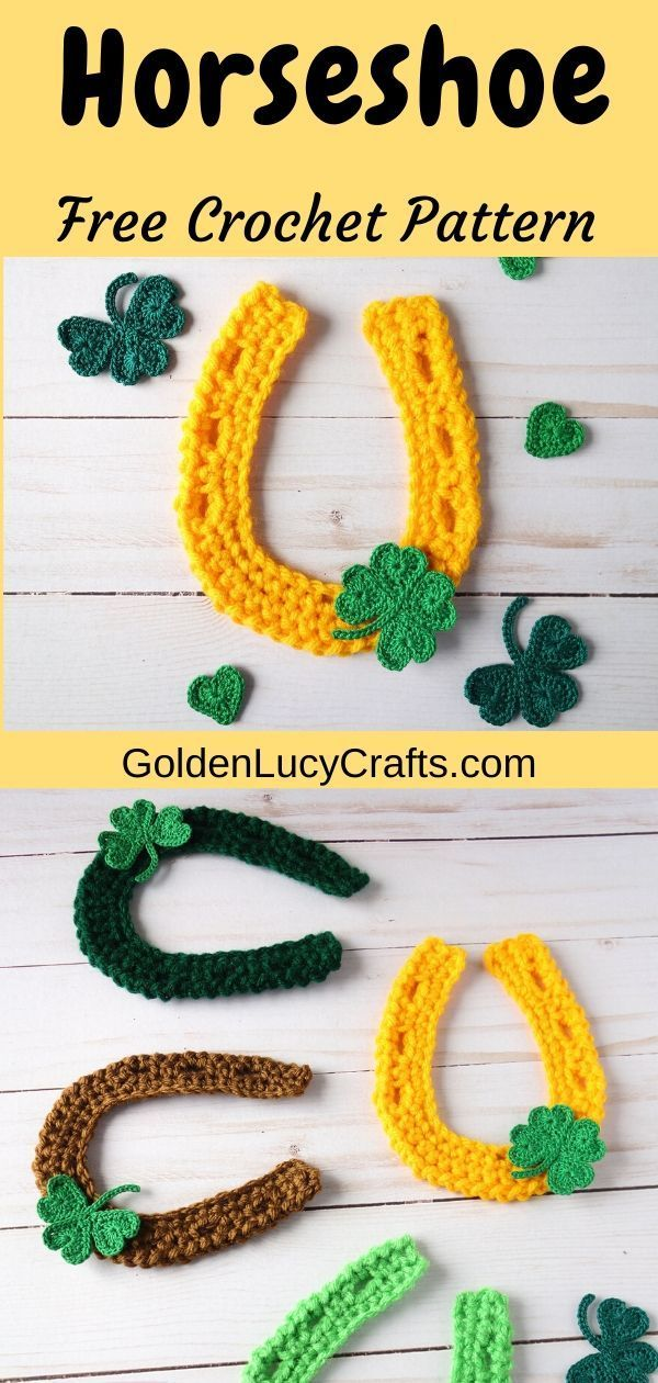 Horseshoe Applique Crochet Pattern
