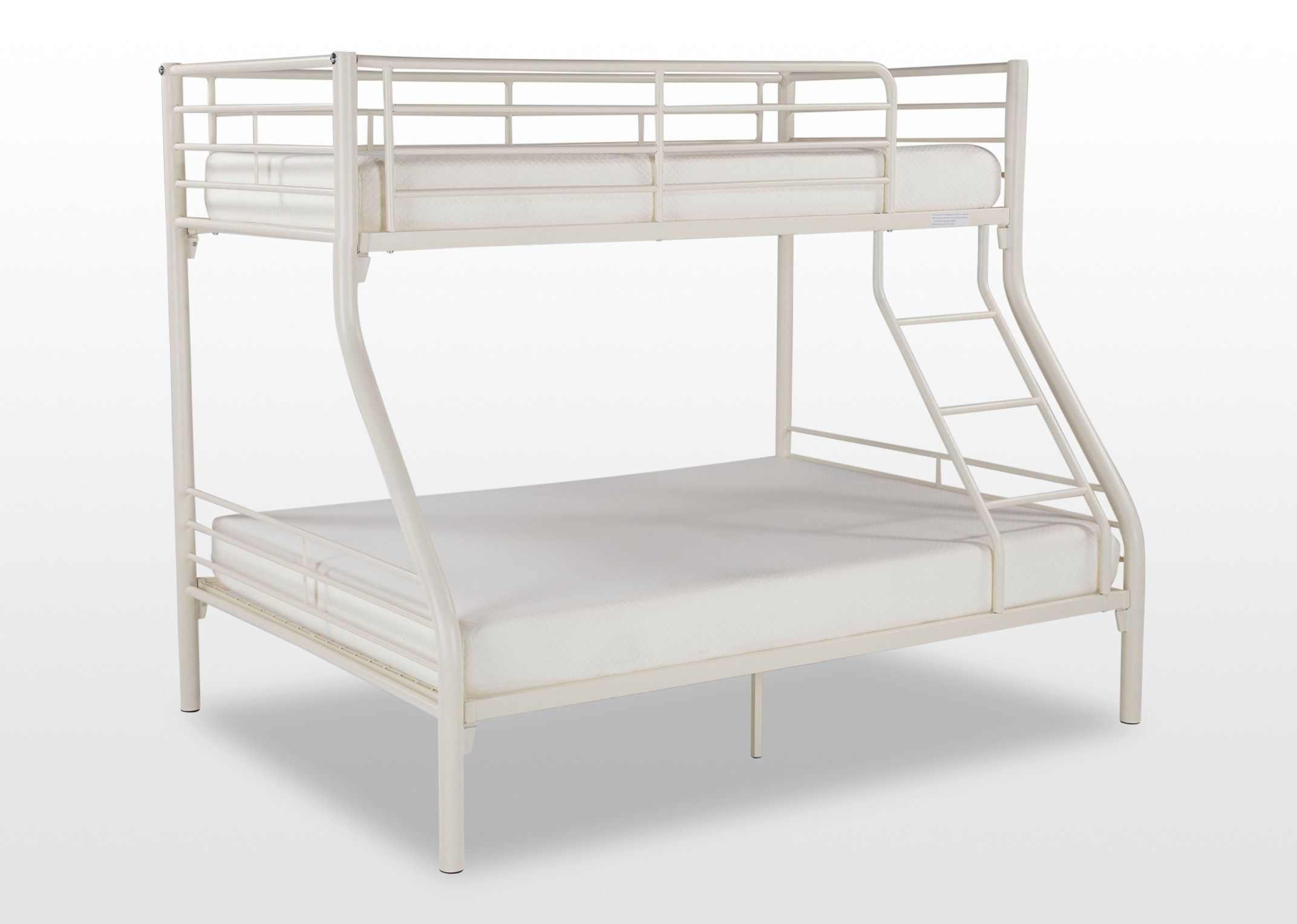 Cream Metal Twin Bunk Bed Oscar