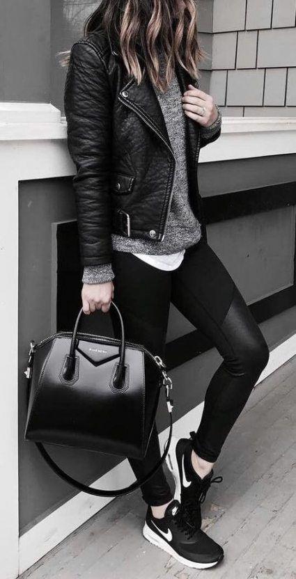 Super How To Wear Leggings With Tennis Shoes Fall Fashion Ideas #casualfashion