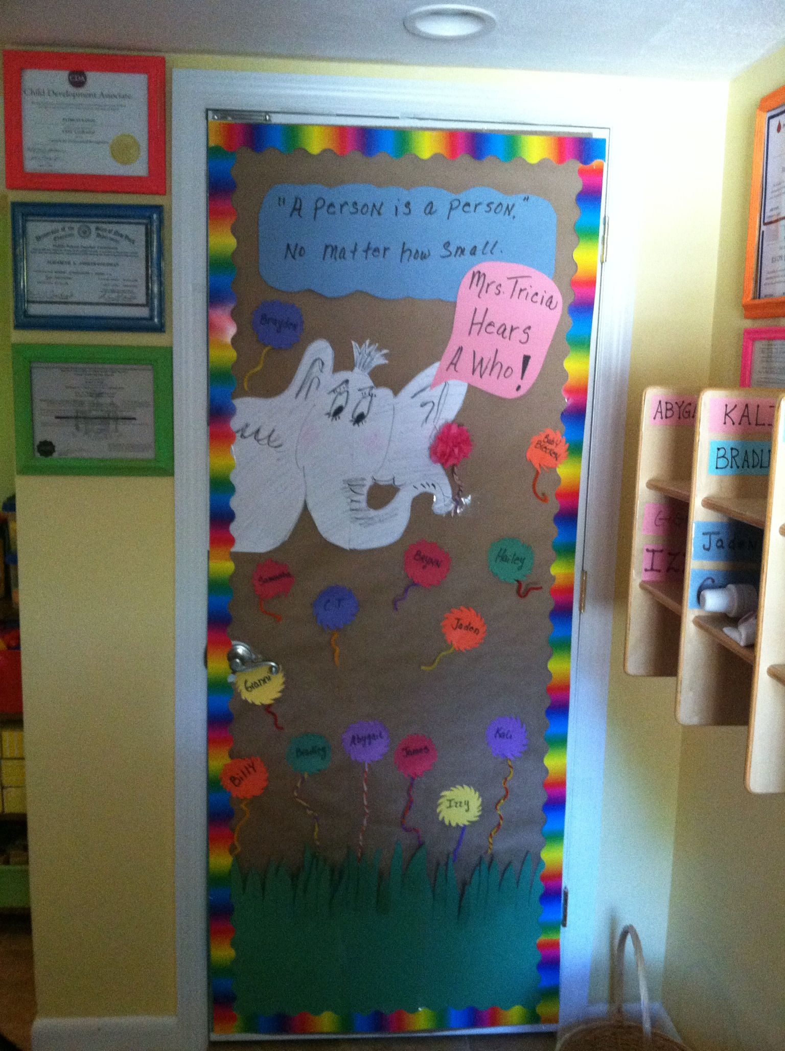 Welcome back to preschool classroom door preschool for Nursery class door decoration