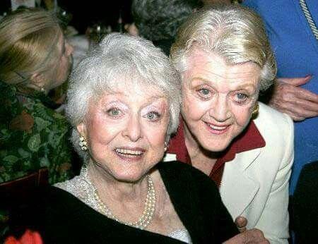 Angela Lansbury with Celeste Holm at her 90th birthday celebration, 2007.