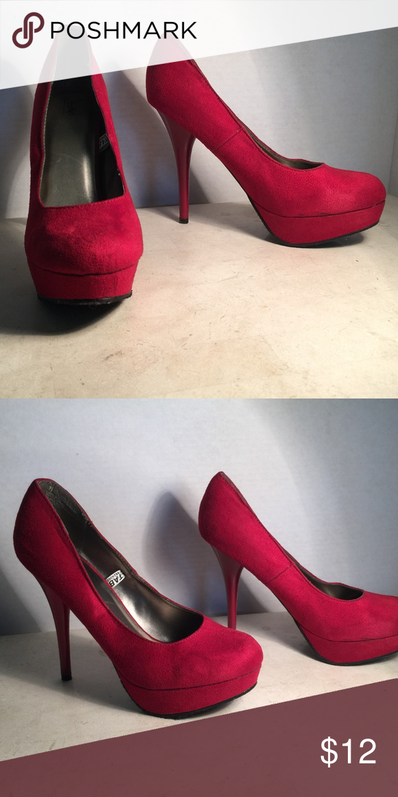 af3bc1626b1 Mossimo Faux Red Suede Heels Mossimo Faux Red Suede Heels Mossimo Supply  Co. Shoes Heels