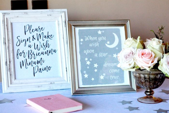 """Moon & Star Party Prints from a """"To The Moon and Back"""" Adoption Celebration on Kara's Party Ideas 