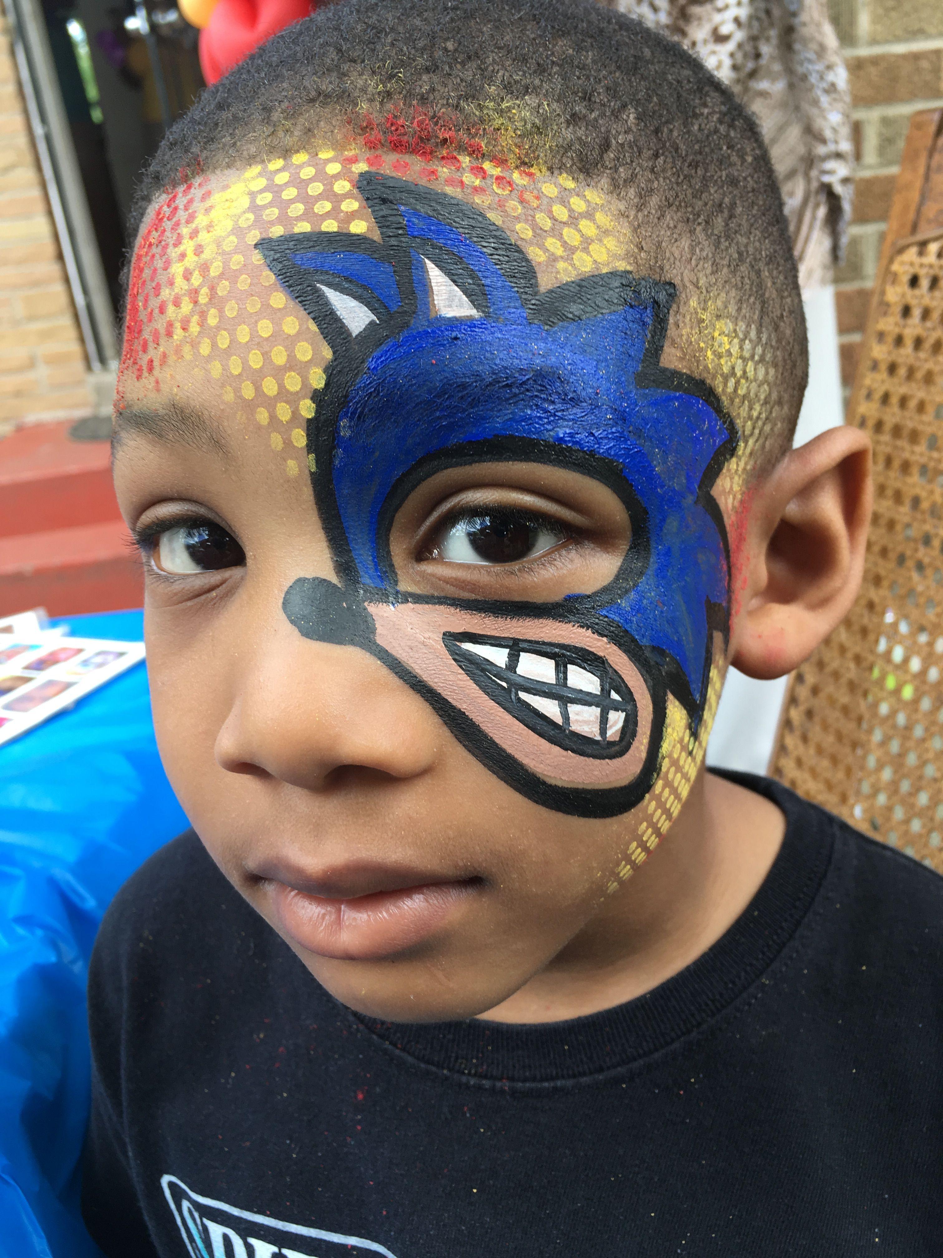 Sonic The Hedgehog Eye Art Kids Face Paint Easy Face Painting Designs Face Painting