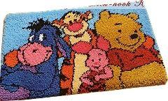 Disneys Winnie The Pooh Eeyore Shaped Rug Latch Hook Kit