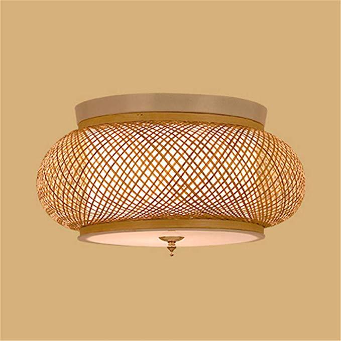 Amazon Com Kwoking Lighting Handmade Flush Mount Ceiling Light Creative Bamboo Ceiling Lig In 2020 Ceiling Lights Flush Mount Lighting Bathroom Light Fixtures Ceiling