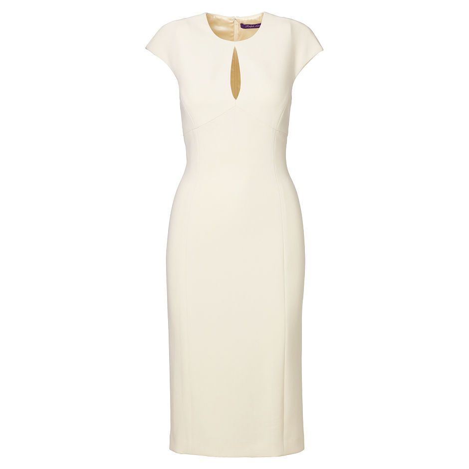 An alluring keyhole and a chic sheath silhouette define the Jenelle dress's  modern appeal. Made in America from sumptuous stretch wool, this  body-skimming ...