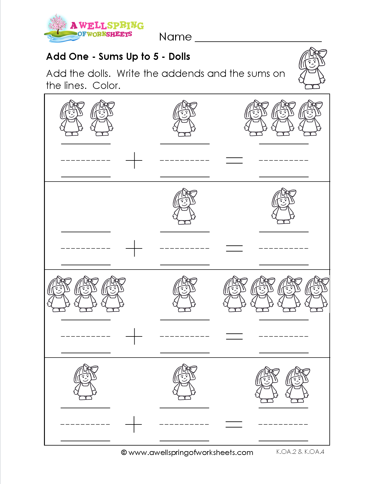 Adding 1 Worksheets - Great set of worksheets to reinforce that adding one  more object is