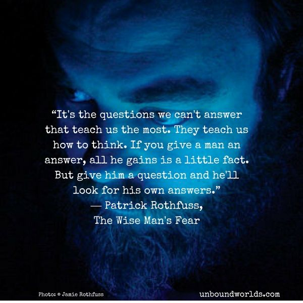 5 Great Quotes From Patrick Rothfuss Patrick Quotes Great Quotes The Wise Man S Fear