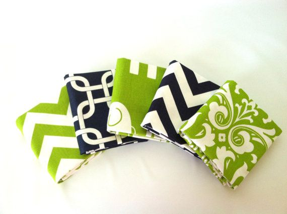 New Chartreuse & Navy Pillow Cover Set Redecorate in minutes