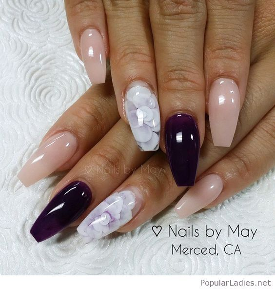 Wonderful Gel Nails With Black And White