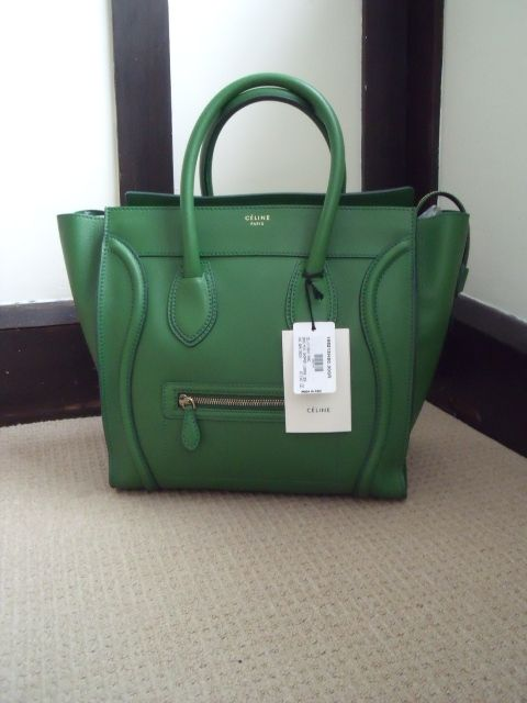 Celine green luggage tote...such a gorgeous bag and comes in a variety of  colors ..... one day! 0159ad082cd98