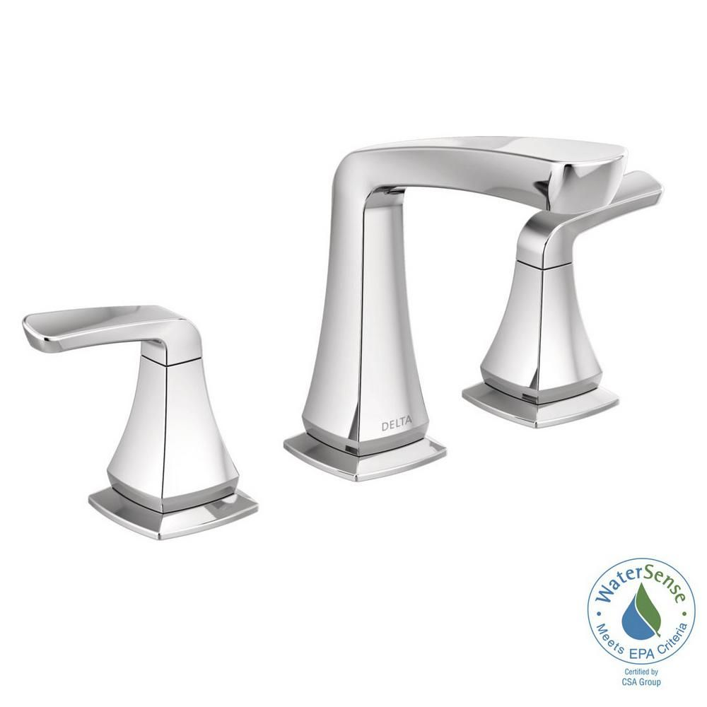 Delta Vesna 8 In Widespread 2 Handle Bathroom Faucet In Chrome