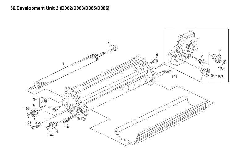 B0653080 Ball Bearing on Developing Roller Original New