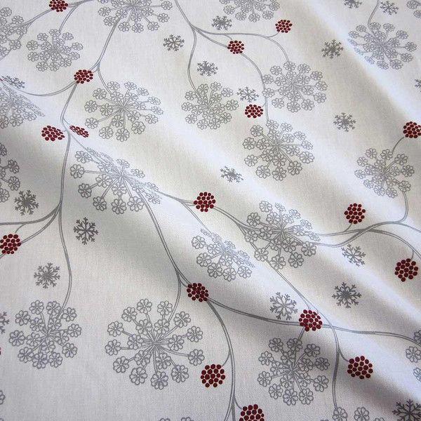 stoff baumwolle blume wei grau silber eiskristall von werthers stoffe auf stoffe. Black Bedroom Furniture Sets. Home Design Ideas