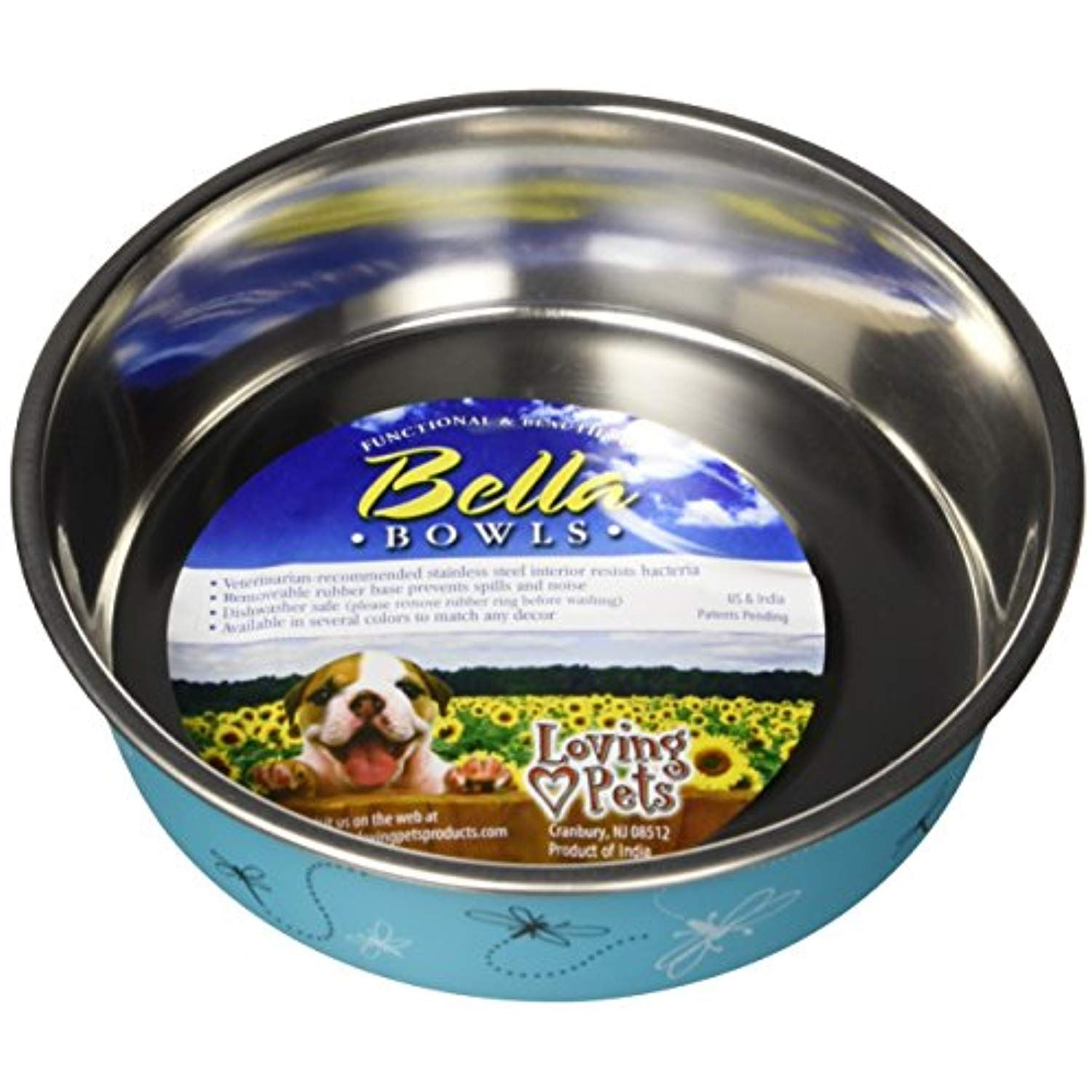 Loving Pets Bella Bowl Designer And Expressions Dog Bowl Medium