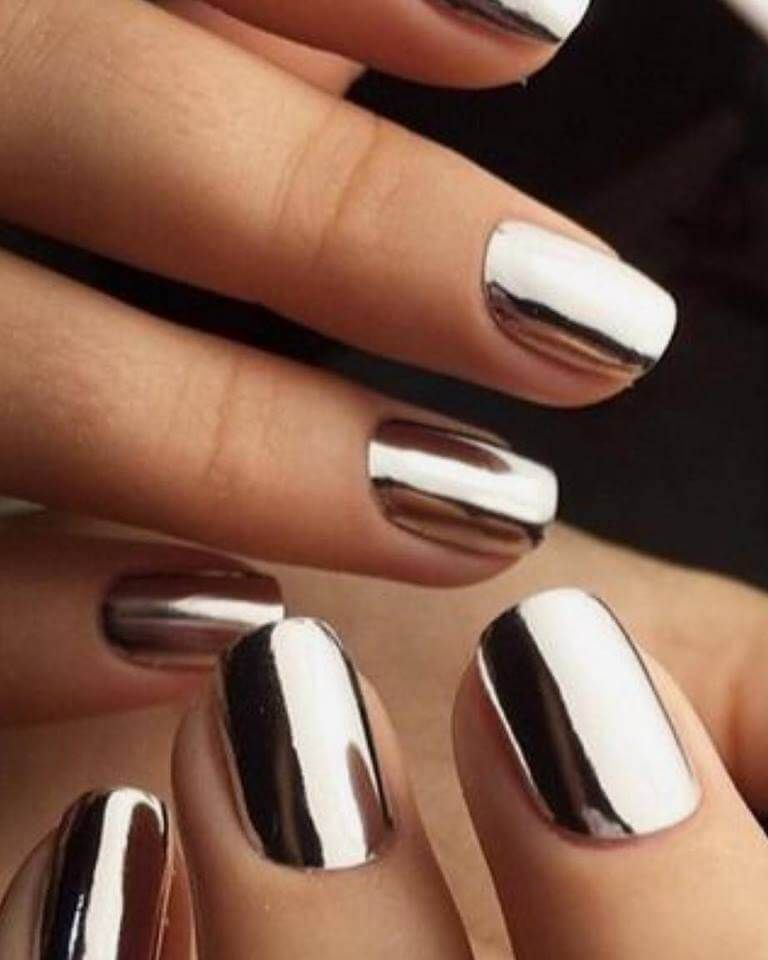 50 Eye-Catching Chrome Nails revolutionieren dein Nagelspiel #chromenails