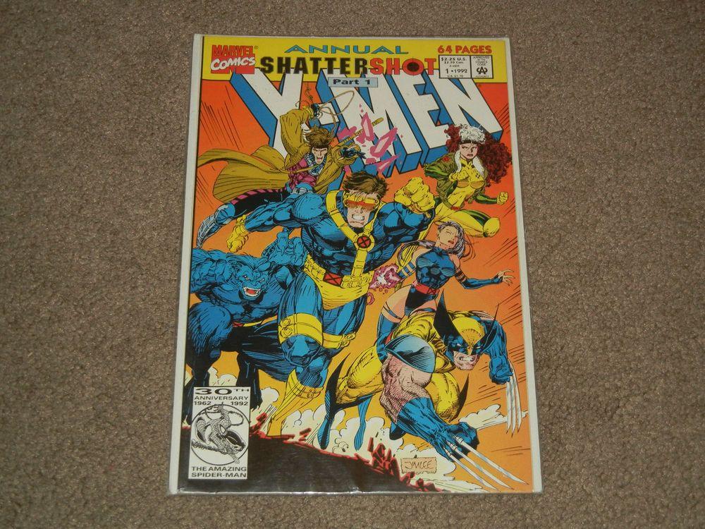 Marvel X Men Annual Shatter Shot Part 1 Vol 1 No 1 1992 64 Pages Comics Marvel Marvel X Comics