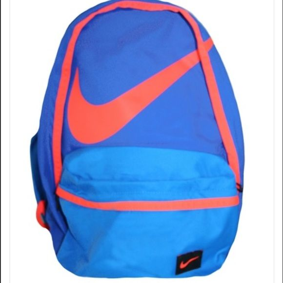 Nike Backpack Style Name  Swoosh Colour  Cobalt Blue Orange - Zip fastening  - Pocket with zip on front - Logo on front - Pocket with zip inside -  Includes ... a0c20a30aa3d5