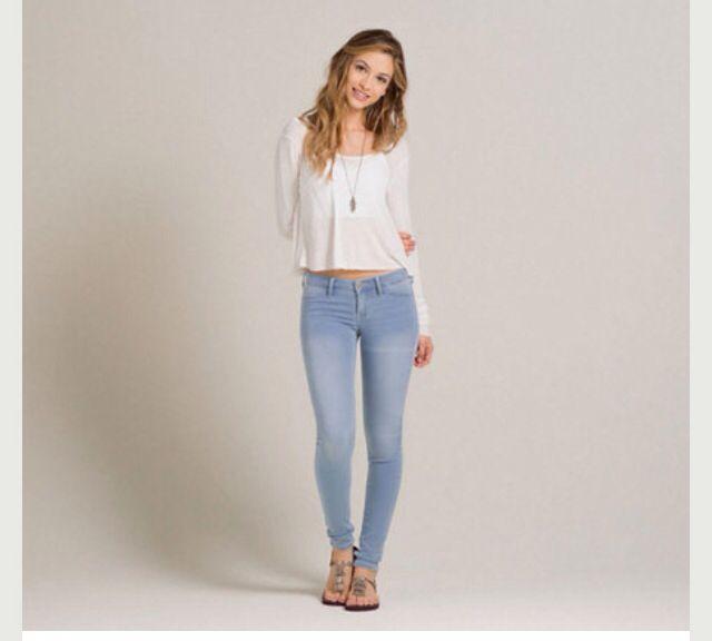 Holister light wash jeans