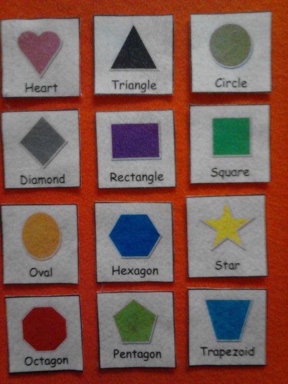 Shapes Sight Words Felt Board Or Flash Cards Set Daycare