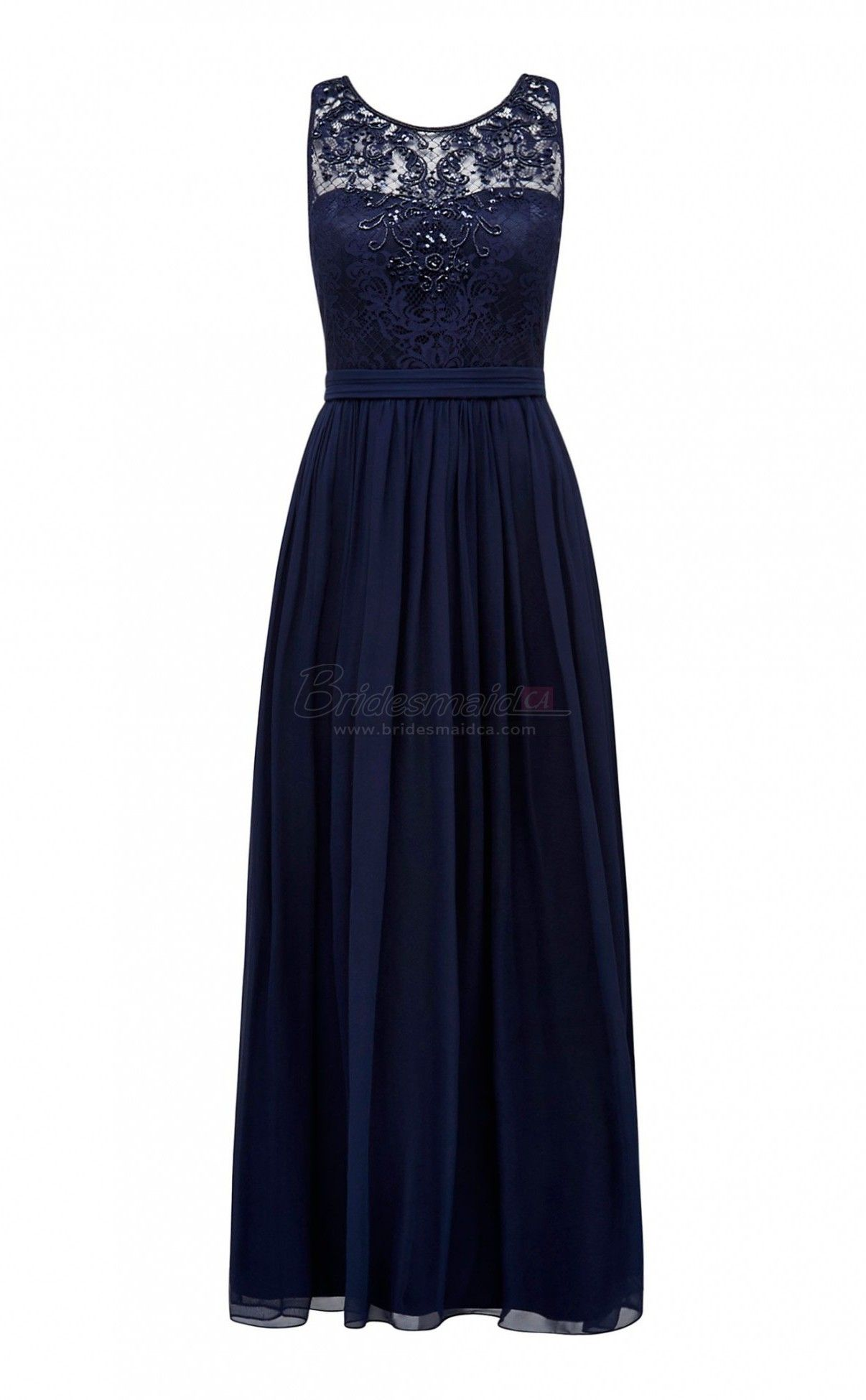 Long chiffon and lace jewel neck blue vintage bridesmaid dress bds long chiffon and lace jewel neck blue vintage bridesmaid dress bds ca391 ombrellifo Images