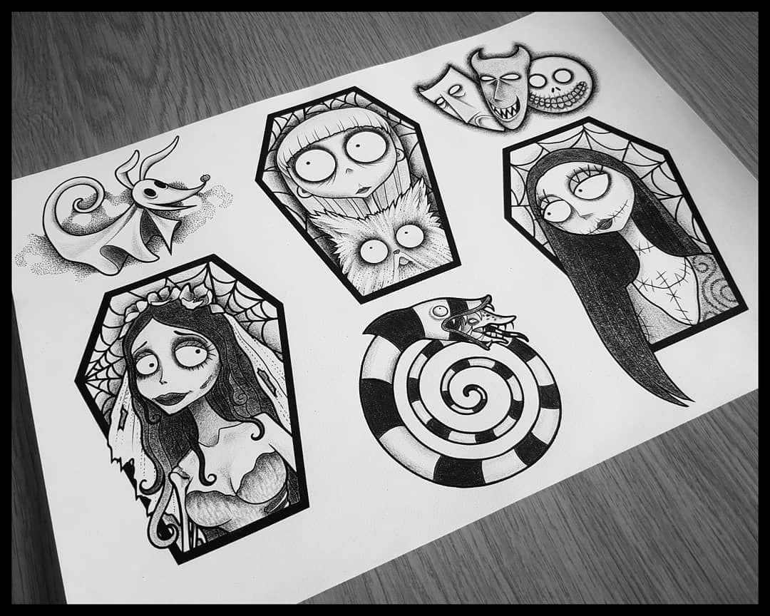 Luna Maladja On Instagram Compilation Of My Tim Burton Wannados Swipe To See The Single Pictures Or Vis Tim Burton Tattoo Tim Burton Art Tim Burton Drawings