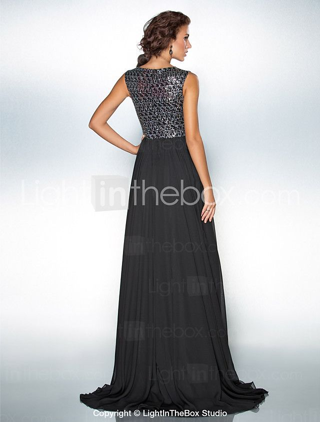 TS Couture® Formal Evening / Military Ball Dress - Furcal / Sparkle & Shine Plus Size / Petite A-line / Princess Jewel Sweep / Brush Train Chiffon 2016 - $104.49