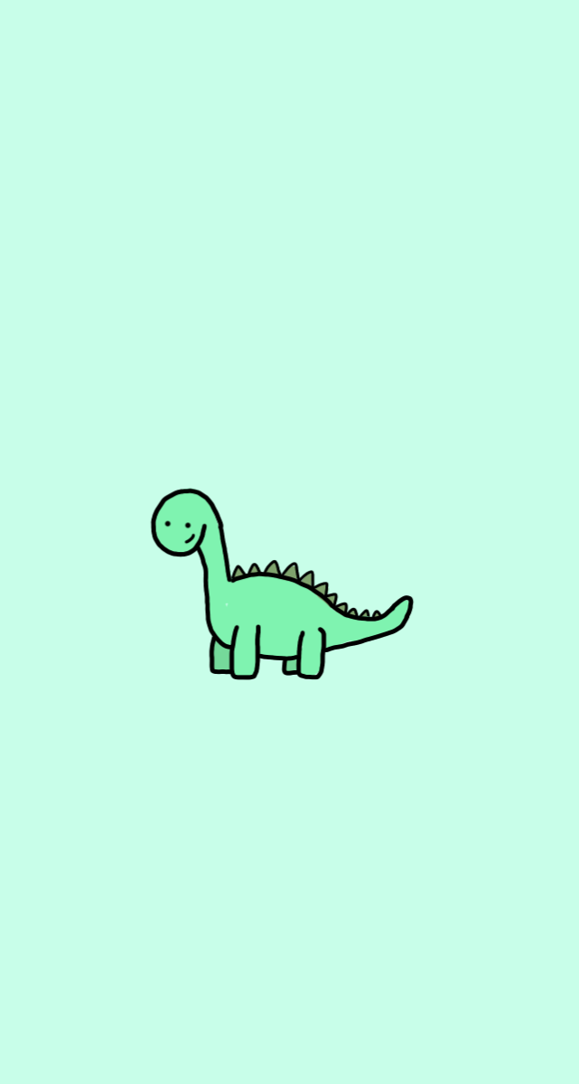 Kawaii Aesthetic Dinosaur Cute Simple Wallpapers Dinosaur Wallpaper Iphone Wallpaper Pattern