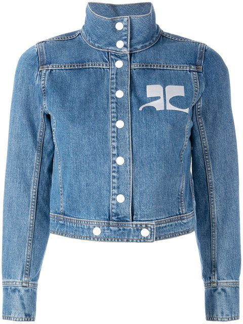 COURRÈGES Embroidered Logo Denim Jacket.  courrèges  cloth  jacket ... a1cbb76f9c0c