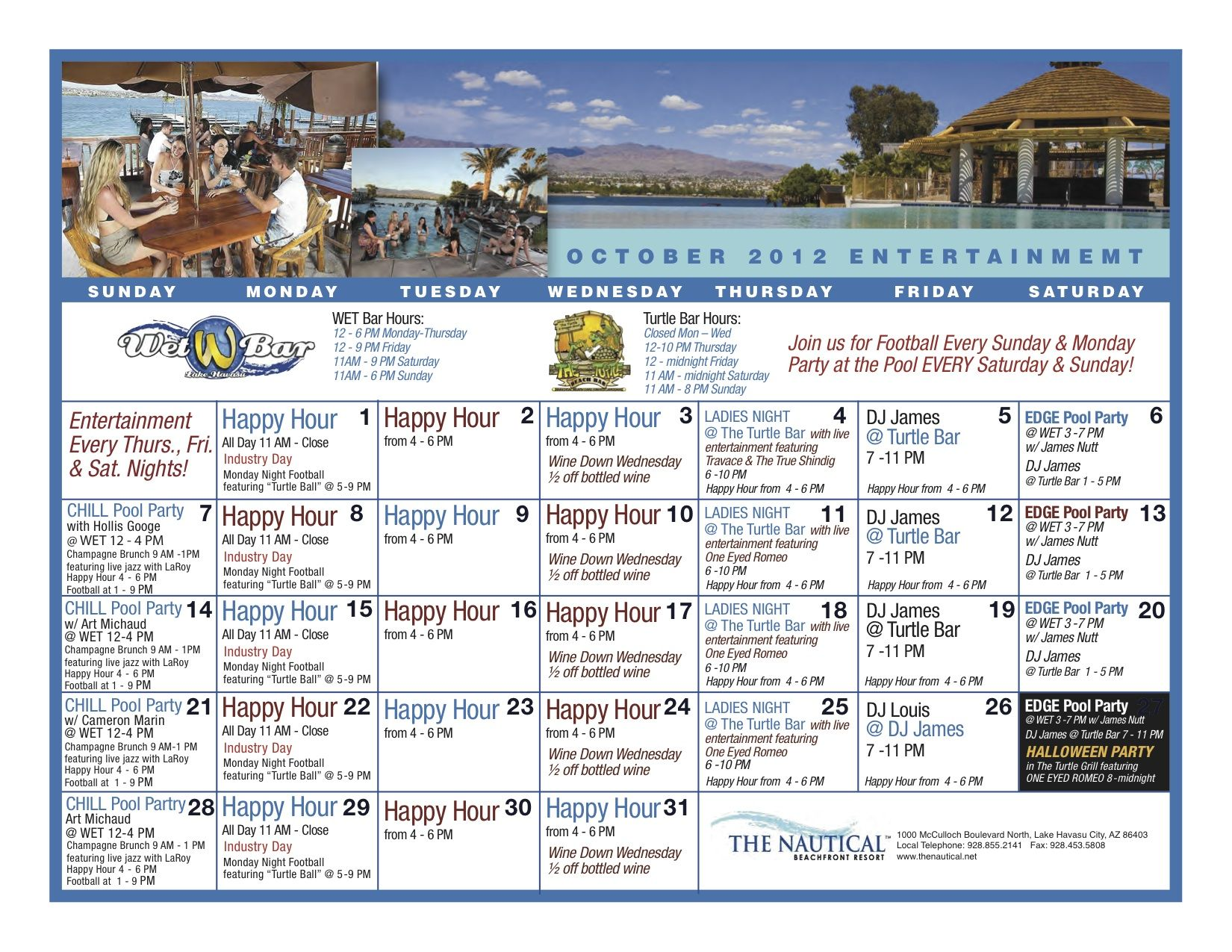 October Entertainment at The Nautical!