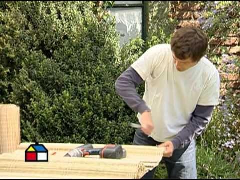 C mo hacer un cielo de totora para el cobertizo hogar for Cobertizo de jardin moderno de techo plano