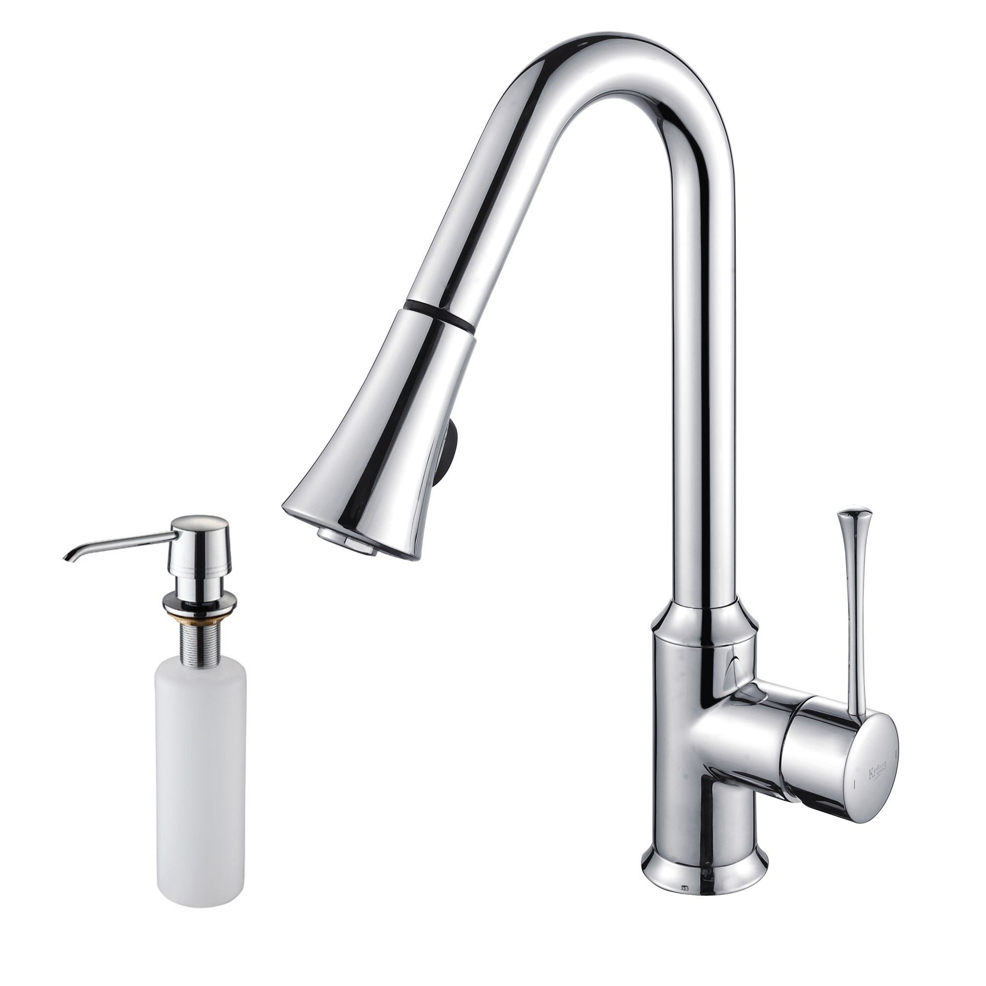 Kraus Single Lever Pull Out Kitchen Faucet KPF 1650 $250 00