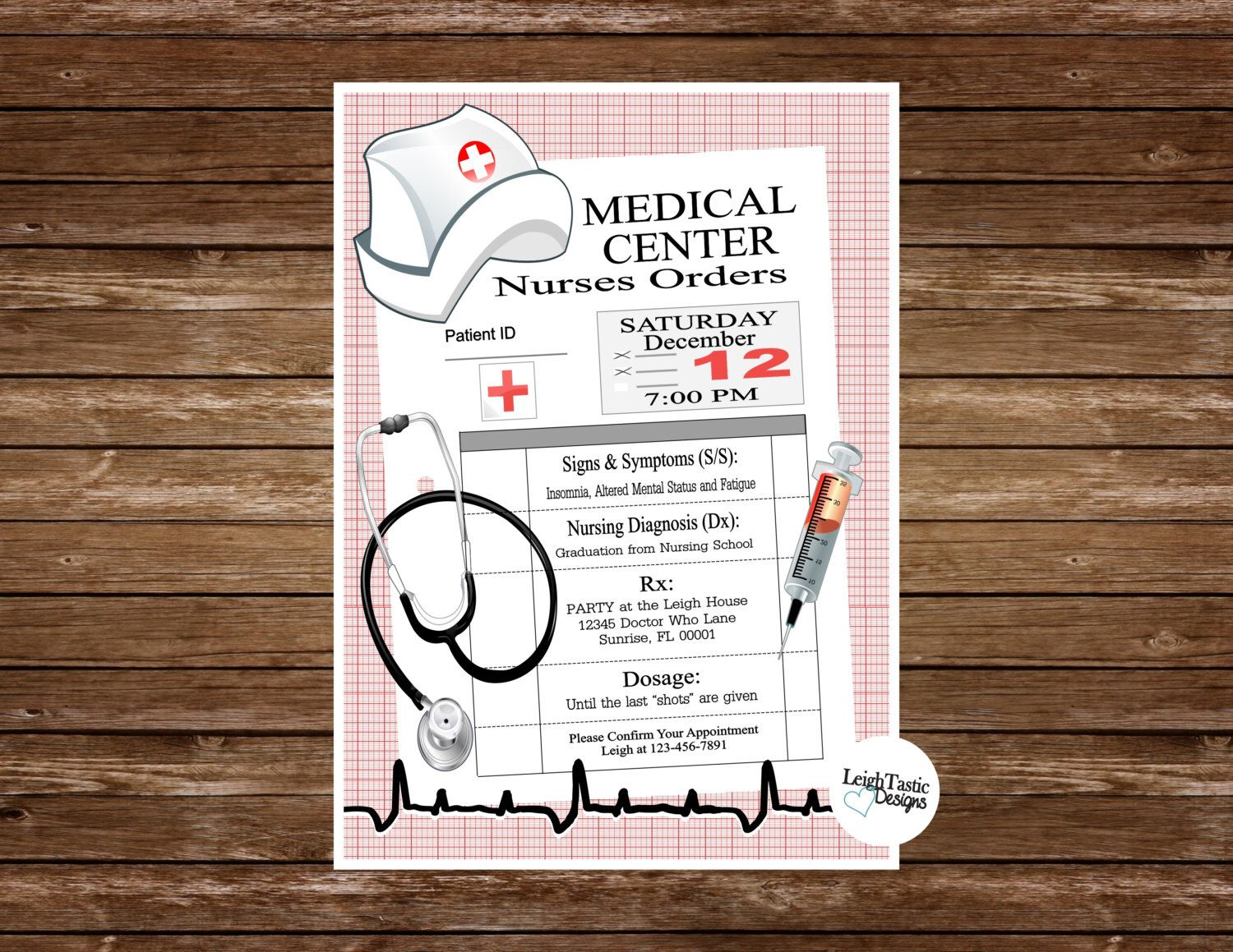 Printable nurse graduation invitation rn bsn nurse pinning ceremony nurse graduation invitation rn bsn nurse pinning ceremony invitations nursing school graduation filmwisefo