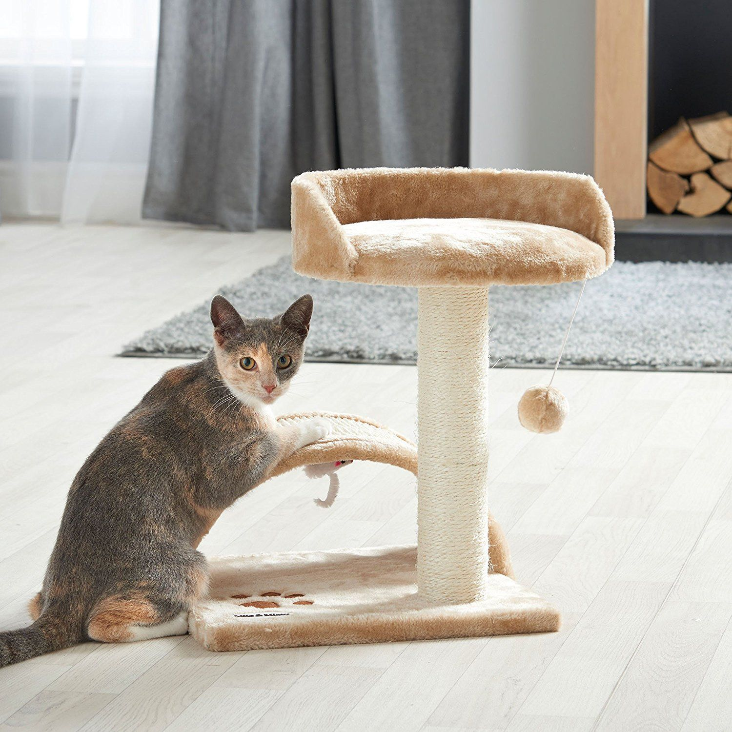 Milo & Misty Cat Bed and Scratching Post Activity Tree