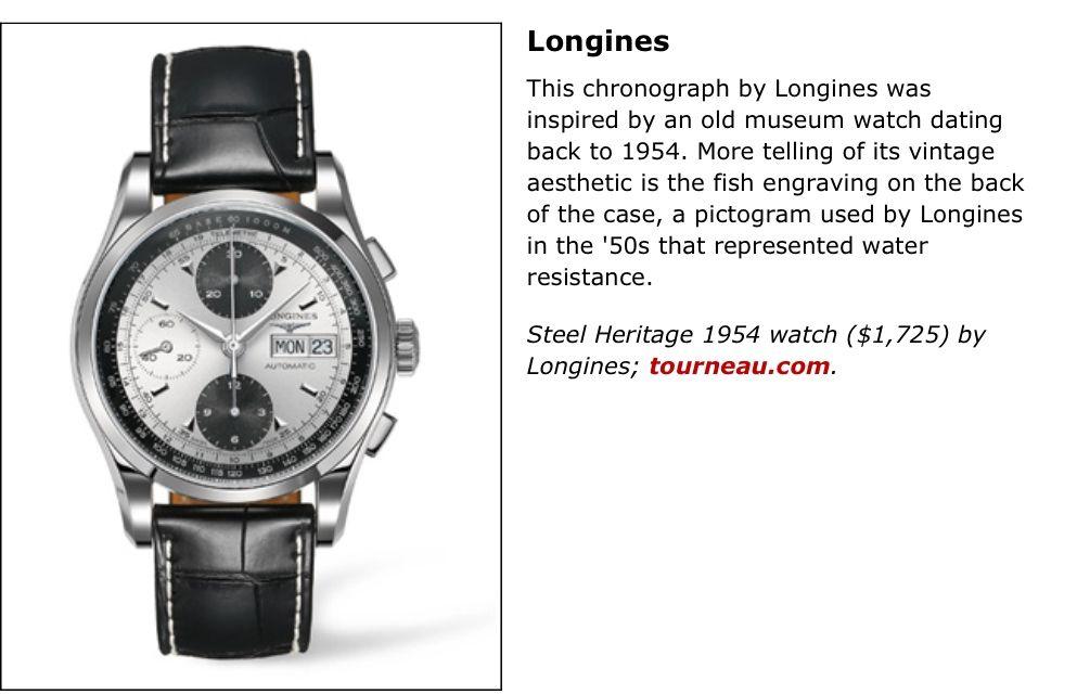 Longines Steel Heritage 1954