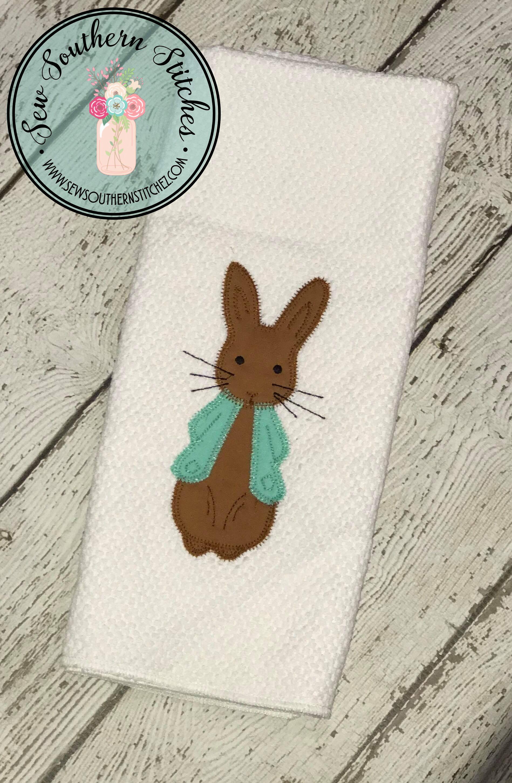 Zig Zag Boy Bunny Applique Design Easter Bunny Design Stitch It