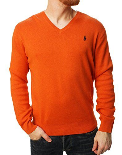 a22042f1dae7b8 Men's Clothing - Ralph Lauren Mens Polo VNeck Pima Cotton Pony Logo Sweater  * Check out the image by visiting the link. (This is an Amazon affiliate  link)