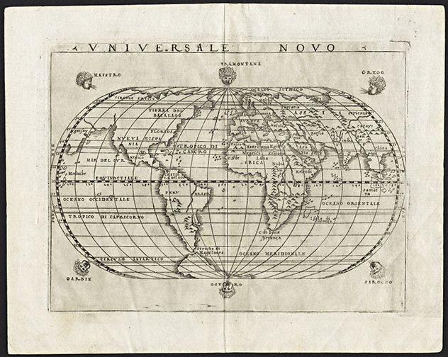 1548 antique world map print antique maps acrylic frames and 1548 antique world map print gumiabroncs Gallery