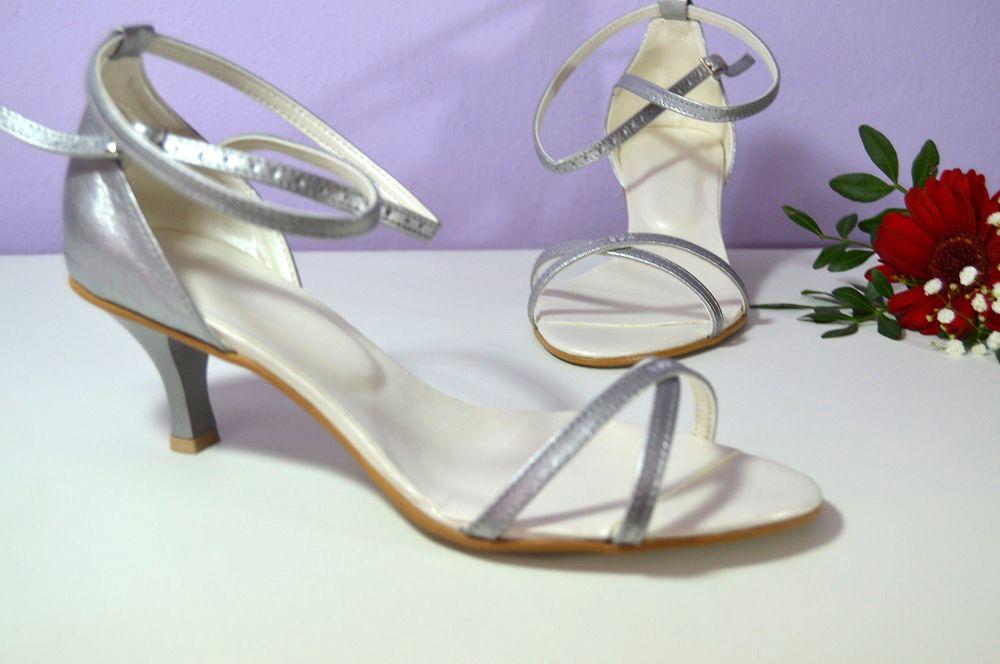 Stříbrné sandálky s inspirací od Stuart Weitzman v K-stylu s úpravou podle  slečny Anity. svatební boty 0320914523