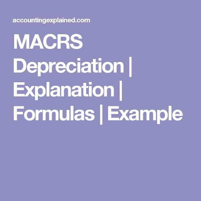 macrs depreciation explanation formulas example excel