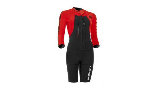 Head W's Swimrun Rough Shorty Suit Black-Red